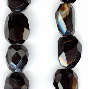 Onyx Facetted Nuggets - large