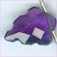 Amethyst Faceted Carved Leaf AAA