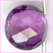 Amethyst Facetted Round Coin A