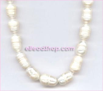 Pearl: Long Oval with Lines
