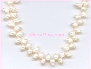 Pearl: Side Drilled Top Teardrop Medium
