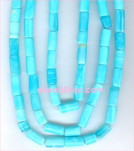 Peruvian Blue Opel smooth Tubes