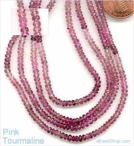 Tourmaline Facetted - Pink<br>2 - 3 mm