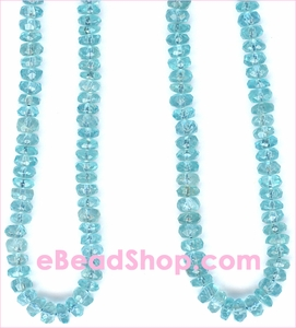 Apatite Faceted Roundele Beads 3 - 4 mm