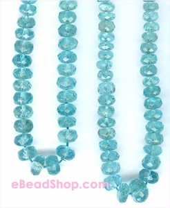 Apatite Facetted Roundelle 4 - 5 mm