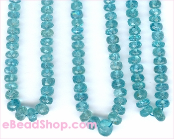Apatite Facated Roundelle 5 - 6 mm