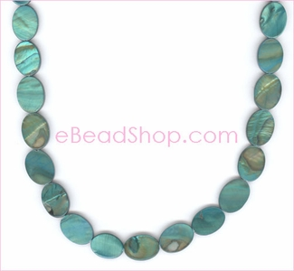 Mother of Pearls<br>Oval Teal