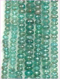 Apatite Roundel faceted - light