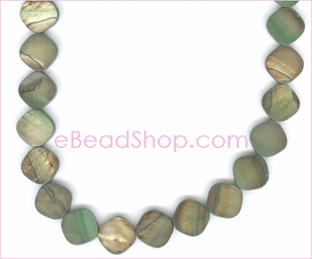 Mother of Pearls<br>Square with Round Edge Light Green