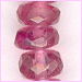 Tourmaline Pink Facetted Roundell<br>2 to 4 mm