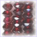Garnet Facetted AA Roundell<br>4 mm