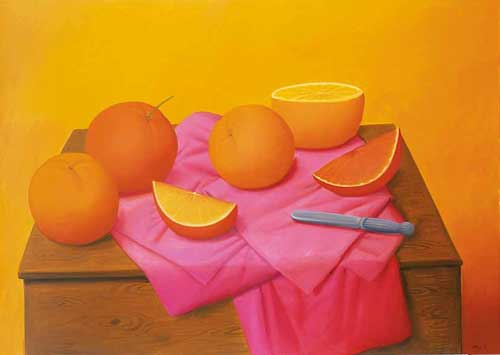 "Featured image, ""Oranges"" (2008), is reproduced from Fernando Botero: A Celebration, distributed for La Fabrica by ARTBOOK 