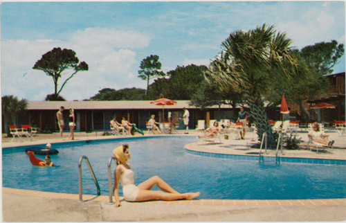 Featured image, a vintage motel postcard, is reproduced from