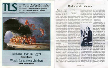 The Times Literary Supplement, October 14, 2011. Richard Dadd: The Artist and the Asylum, in the Media
