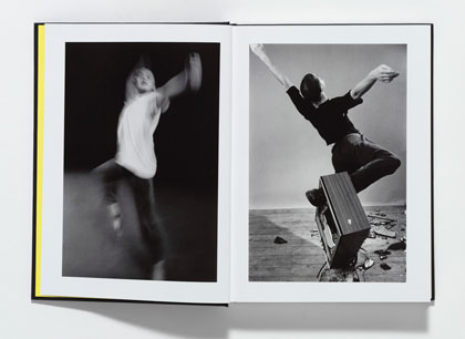 "LEFT: Michael Clark dancing ""Of a feather, FLOCK,"" 1983.RIGHT: Clark in ""Parts I-IV,"" 1983.Both photographs by Chris Harris.  Michael Clark at Artists Space"
