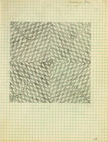 She organized the surfaces without ever allowing repetition or symmetry. Her constructions are full of variation, and have a subtle sense of balance that never yields a formula, and that provides continuous visual exercise and diversion. Anni employed subtle systems to strengthen her constructions.  The Prints of Anni Albers: Catalogue Raisonn�
