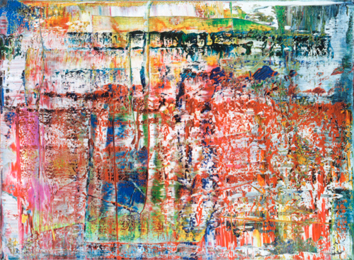 Gerhard Richter, 724-4 (1990), abstract painting, the basis of digital strip paintings from Gerhard Richter: Patterns ISBN 9781935202981, artist