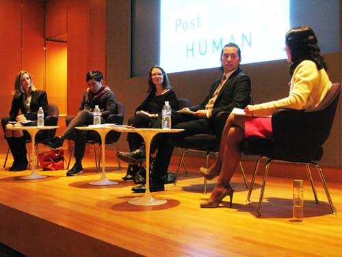 FROM LEFT: Margaret Chase, Paul Chan, Sharon Gallagher, Chul R. Kim and Arezoo Moseni.   The panel, which set out to investigate how diverse art book publishers approach their long-term viability in commercial and academic marketplaces, was led by the NYPL