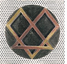 "Featured image, ""Relief Heptagon"" (1977), mirror, reverse glass painting and plaster on wood, is reproduced from <a href=""http://www.artbook.com/9788862081757.html"">Monir Shahroudy Farmanfarmaian</a>."