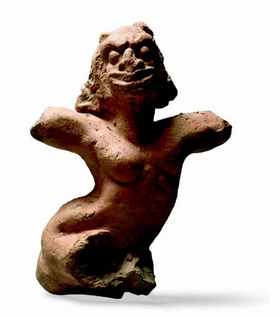 "Featured image, ""Amulet of a Woman in a Fit of Madness or of Tetanus,"" (Hellenistic period, Smyrna), is reproduced from <I>The Grotesque Factor</I>."