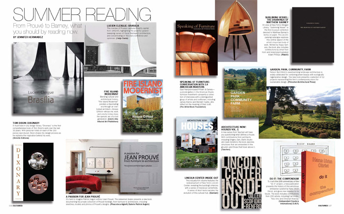 Read more in the online edition! Summer Reading from Cultured Magazine