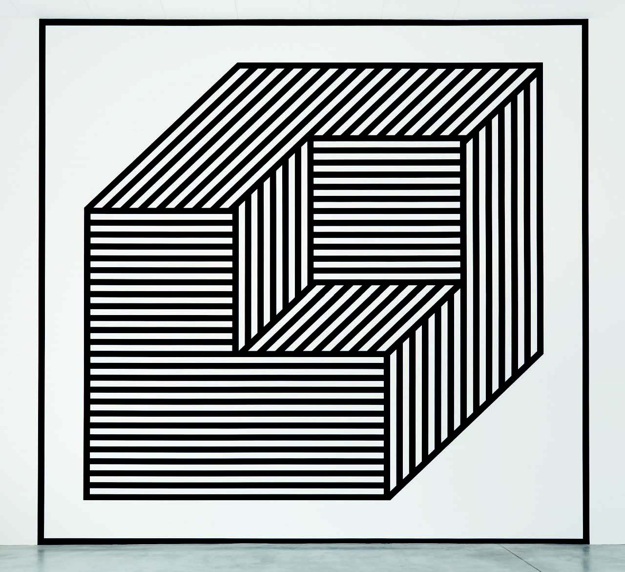 """Wall Drawing # 356 BB"" (2003), installed at the Hirshhorn Museum of Art and Sculpture Garden, Smithsonian Institution, Washington, D.C., is reproduced from ""Sol LeWitt"" distributed for JRP