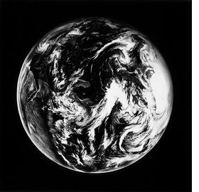 Featured image, <i>Untitled (Home, Earth 3), </i>Charcoal on mounted paper, 2005, is by Robert Longo, from his series <i>THE OUTWARD AND VISIBLE SIGNS...</i>