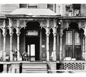 "Featured image, ""Birmingham Boarding House"" (1936), is reproduced from <I>Walker Evans: American Photographs</I>."