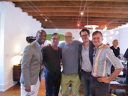 J.A. Forde, Ross Bleckner, Frederic Tuten, Johannes Vogt and Luke P. Brown. Ross Bleckner and Frederic Tuten at ARTBOOK + R/Turpan