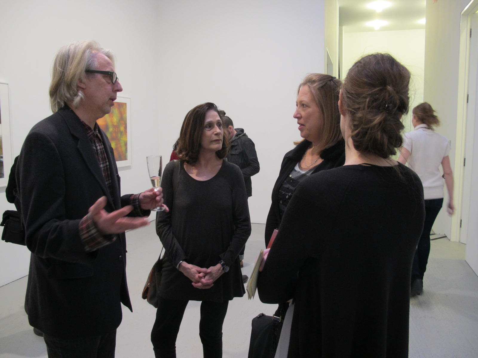 James Welling with Editor Alice Rose George and guests. James Welling at David Zwirner Gallery