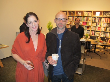 New York Fantom editor Cay Sophie Rabinowitz with Moby. ARTBOOK and Eighth Veil Celebrate Fantom During Art Los Angeles Contemporary