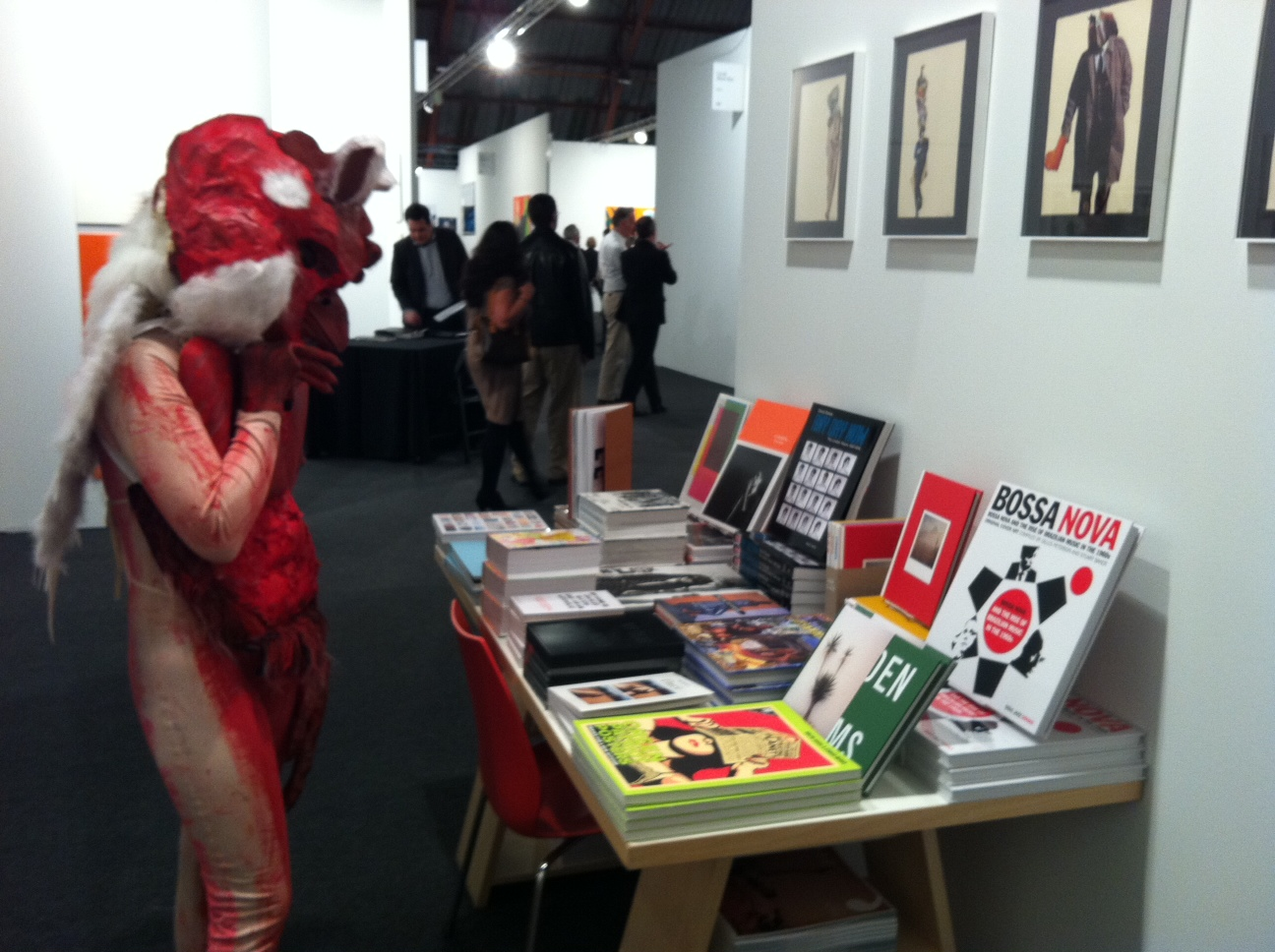 Opening night drew celebrities and celebrants to the ARTBOOK booth. ARTBOOK @ Art Los Angeles Contemporary