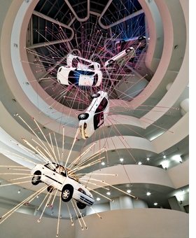 "Featured image, of Cai Guo-Qiang's 2008 installation, ""I Want to Believe,"" is reproduced from <I>Solomon R. Guggenheim Museum: An Architectural Appreciation</I>."
