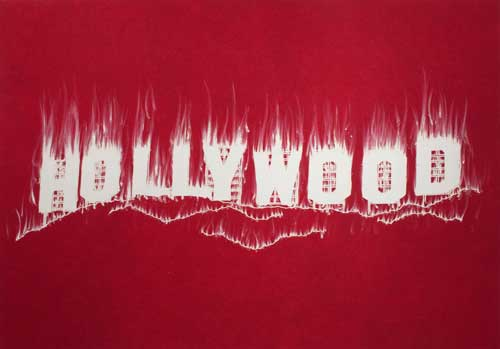 """Hollywood"" (2008) is reproduced from Gary Simmons new monograph, ""Paradise"" distributed for Damiani by ARTBOOK 