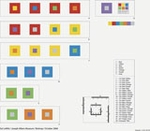 Sol LeWitt: Seven Basic Colors and All Their Combinations in a Square Within a Square