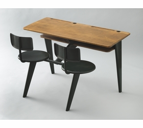 Featured image, a 1946 enameled steel and oak school desk by Jean Prouv�, is reproduced from <I>Century of the Child</I>.