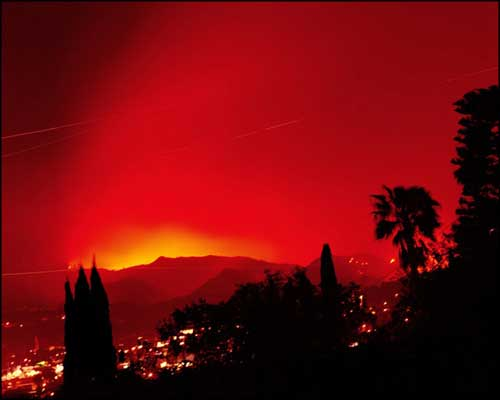 "Featured image, ""Griffith Park Fire, Los Angeles"" (2007) from Connie Samaras"