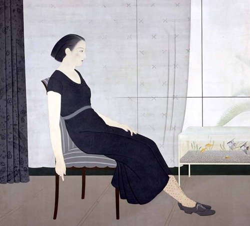 """Interior"" (1934) by Kikuchi Takashi, is reproduced from Anne Nnishimura Morse"