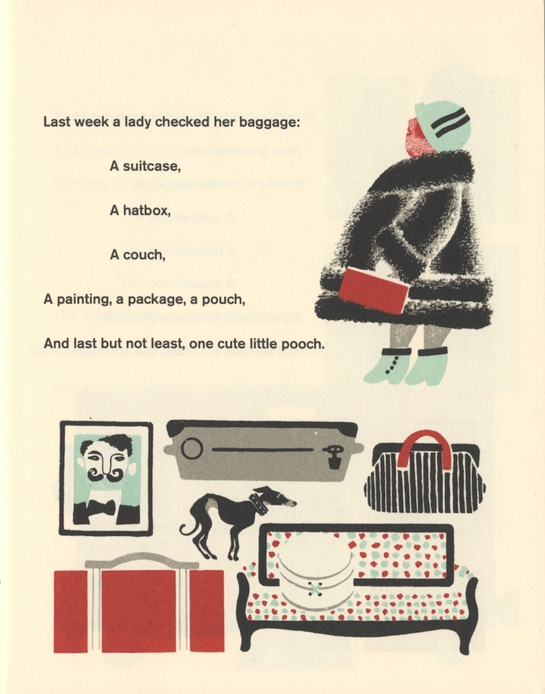 "A page from ""Baggage,"" a beautiful facsimile translation of the classic Russian children"