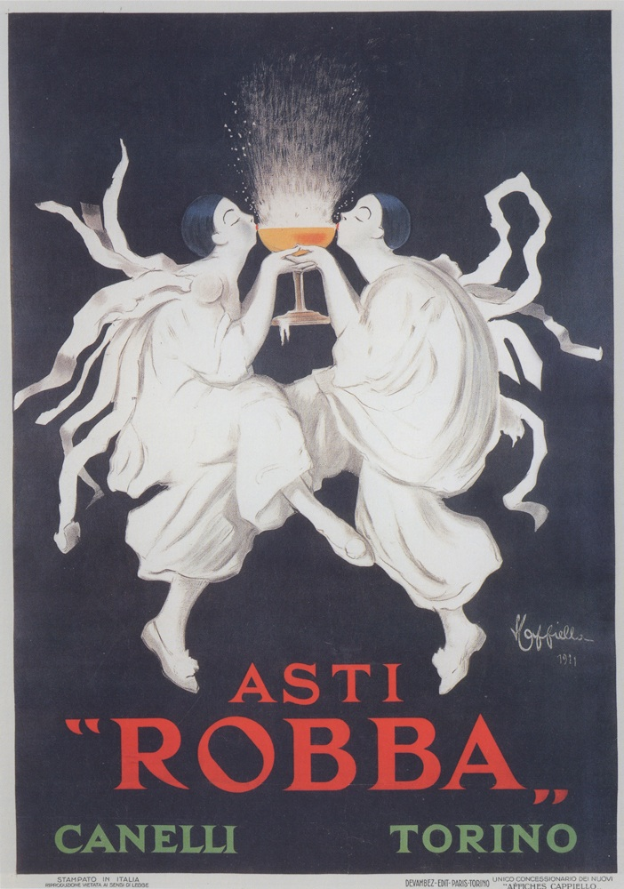 "Featured image is a 1921 advertising poster designed by Leonetto Cappiello for Asti Robba. It is reproduced from ""Posters:  Irony, Imagination and Eroticism in Advertising 1895-1960,"" distributed for Silvana by ARTBOOK 