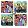 Chinese Coasters - Chinese Folk / Peasant Paintings (Set of 4) #7