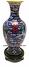 Chinese Cloisonne Vase - Double Happiness / Dragon & Phoenix