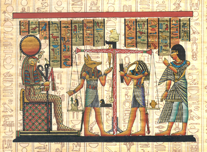 Weighing of the Heart Ceremony Papyrus