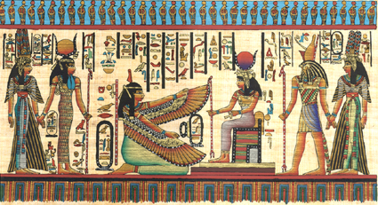 Isis, Ma�at, Horus and Hathor Papyrus