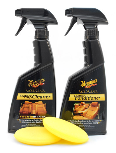 Meguiars Gold Class Rich Leather Aloe Combo Clean And