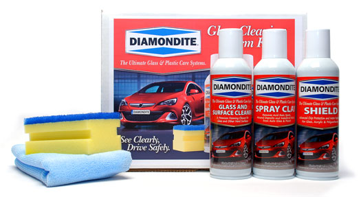 Diamondite Glass Cleaning System Kit Is Effect Against