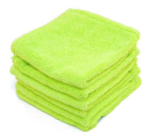 Green Microfiber Towel: Super Soft Deluxe Green Microfiber Towels With Rolled