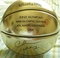 Charles Barkley autographed 1996 Olympics commemorative gold basketball