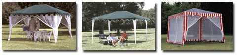Screen Houses, Sun Shelters, Car Shelters, Boat Shelters