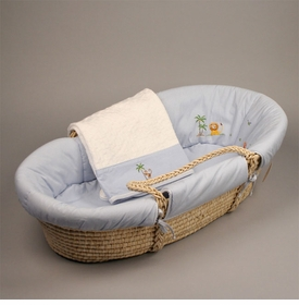 gordonsbury on safari blue moses basket